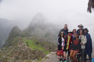 AICE Students & Parents on 2015 Spring Break trip to Macchu Picchu