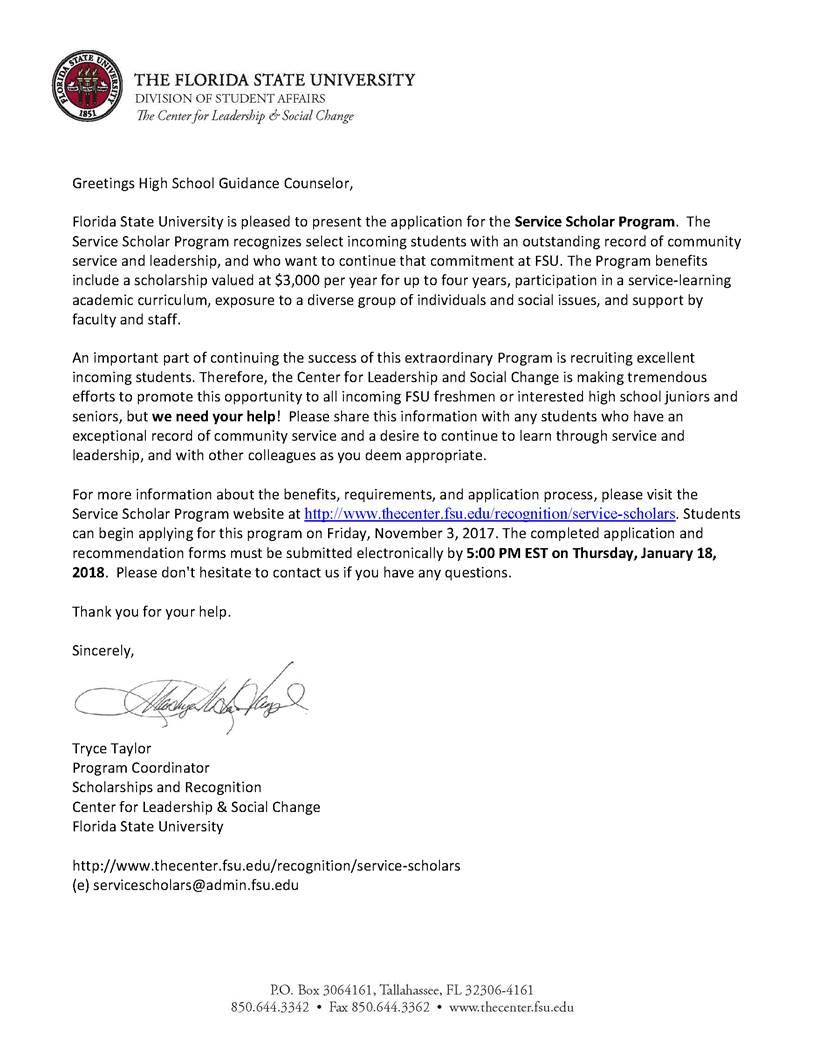 Scholarship Opportunities | SAHS AICE