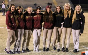 (left to right) Lexie Cubbedge, Regis Hay, Frankie Sefcik, Jordyn Edwards, Elizabeth Cheiky, Kaitlyn Meeks, Miah Balcom, Lily Deeter (not pictured Kiara Wright)